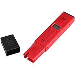 Medidores de PH Agua Preciso Medidor Digital de PH Portátil Profesional con Pantalla LCD Retroiluminada para Agua Potable Doméstica, Hidroponía, Acuarios y Piscinas