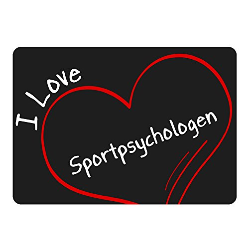 Mousepad Modern I Love Sportpsychologen schwarz