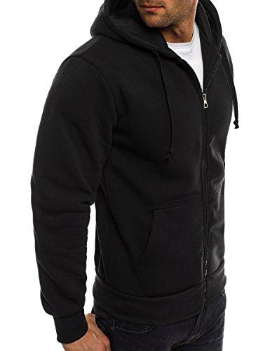 OZONEE Uomo Maglia Pullover Pullover con cappuccio Pullover Sportivi Militare Mimetico RED FIREBALL 1120 nero_BBG-6001X