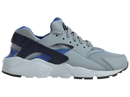 Nike Huarache Run (GS), Chaussures de Running Entrainement Garçon, Noir Multicolore (Wolf Grey/binary Blue-comet Blue-white)