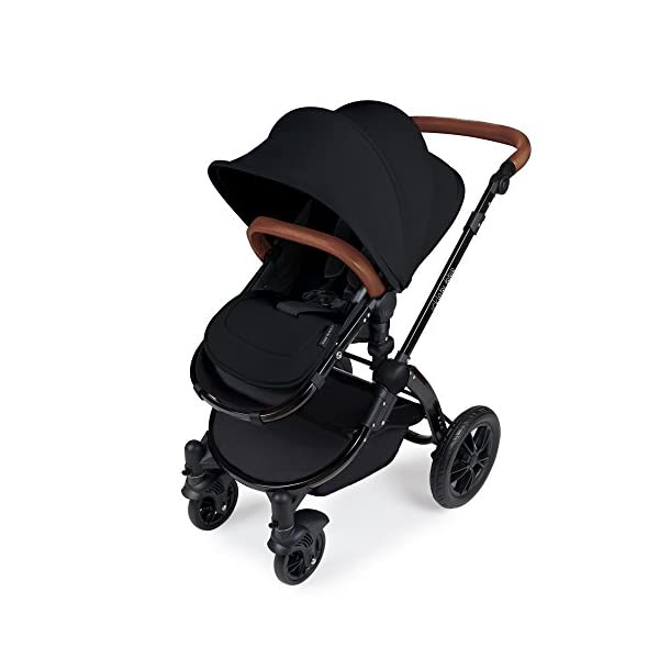 Ickle Bubba Stroller Stomp V3 iSize All-in-One iSize Baby Travel System | Car Seat w/ Isofix Base, Rear and Forward-Facing Pushchair, Carrycot | Black on Black Frame Ickle Bubba I-size all-in-one travel system: features carrycot, reversible pushchair, and mercury i-size car seat with is fix base. deluxe foam tires allow for a smooth ride Forward and parent facing toddler seat + new-born carrycot: flexible seating to cover your child from birth to 3 years old All weather protection: rain cover to cover your child from sudden downpour. machine washable and roomy footmuff 4