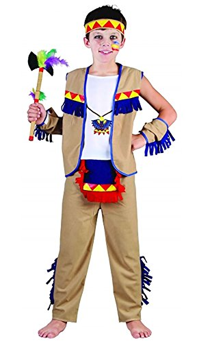 (Islander Fashions Boys West Indian Native Kost�m Kinder Wild Red Indian Fancy Dress Party Outfit Gro�e 10-12 Jahre)
