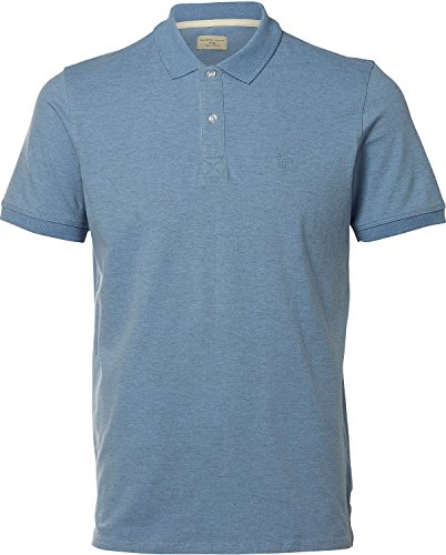 SELECTED HOMME Shharo Melange Ss Embroidery Polo Noos, T-Shirt Uomo, Blu (Forever Blue), X-Large