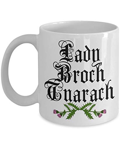 Womens Thistle (Sassenach Lady Broch Tuarach Mug - Thistles Outlander Inspired Gift Claire Coffee Cup - White Ceramic (11 oz.))