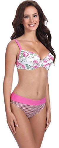 Feba Figurformender Damen Push Up Bikini D1N32L1 Muster-413