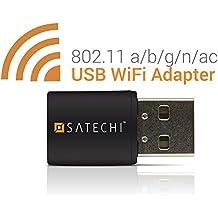 Satechi Mini Adattatore USB Dual Band Wi-Fi Wireless IEEE 802.11 a/b/g/n/ac supporta Windows (Ieee 802.11b / G / N Usb)