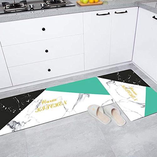 SZP Marmorwindmatte, Long Kitchen Waterproof Carpet, Household Bad Mat, öldichter Anti-Rutsch-Mat Into The Door Mat, PVC-Material,04,45 * 120