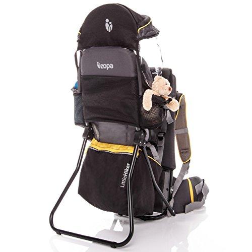 ZOPA Kindertrage Little Hiker - Höhenverstellbarer Sitz, für Kinder von 10 Monaten bis 18 kg (Banana Yellow)