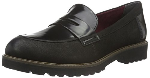 Tamaris Damen 24223 Slipper, Schwarz (Blk/Blk Brush 035), 37 EU