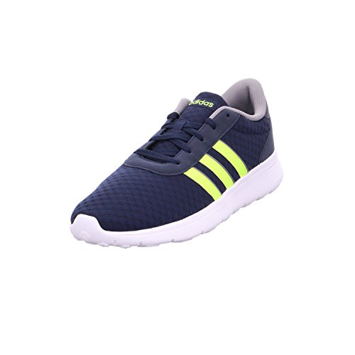 Adidas Lite Racer, Chaussures De Sport Basses Unisexes - Bleu Adulte (marine Collegiate / Solaire Jaune / Gris Trois)