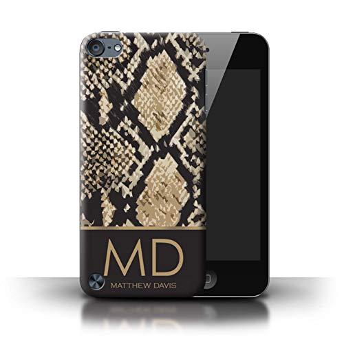 eSwish Personalisiert Individuell Mode Tierdruck Muster Hülle für Apple iPod Touch 5 / Schlangenhaut Effekt Design/Initiale/Name/Text Schutzhülle/Case/Etui -