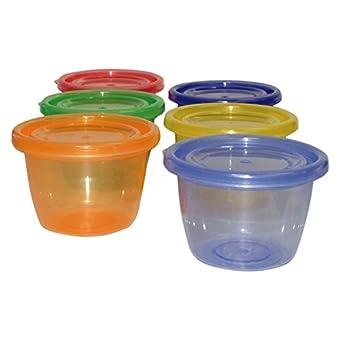 DreamBaby Lot de 6 petits pots pour nourriture avec couvercle
