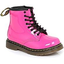 f5dbfc01f98b0 Dr Martens Chaussures Brooklee Delaney pour enfant, dessus en cuir et  lacets, fermeture éclair