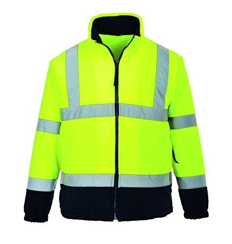 PORTWEST Fleece mit Anti-Pilling-Ausrüstung, 300G, 100% Polyester, 1 Stück, XXXL, gelb/marine, F301YNRXXXL