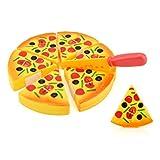 Juguetes del bebé,Niños Kids Pizza rebanadas Toppings fingir Cena Cocina Jugar Comida Juguete Regalo LMMVP