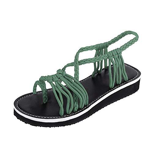 SMENGG Scarpe Estive da Donna, Pantofole, Sandali Cinturino Intrecciato Moda Pantofole da Spiaggia(38)