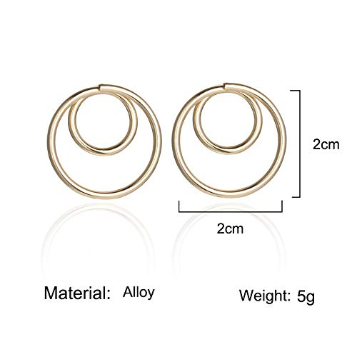 Ohrringe Paar runde Ohrringe weibliche Hip-Hop-Nägel