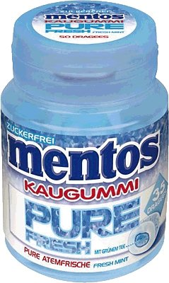 Fresh Mint Kaugummi (Mentos Gum Pur Fresh Mint 70g)