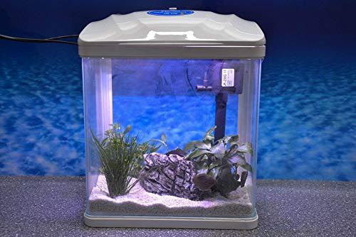 HRC-230 weiß Nano Aquarium Komplettaquarium Mini Aquarium Filteranlage Nanoaquarium Komplett Filter Beleuchtung
