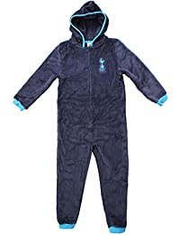 4ccbe26ad Boys Official Tottenham Hotspur Spurs Hooded Fleece Zip Sleepsuit Onesie  Sizes from 3 to 12 Years