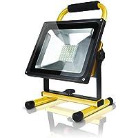 Noir Tools Led Baustrahler Aufladbar 30 Watt 2700 Lumen 21 Cm Diagonale Bauscheinwerfer Gelb Arbeitsleuchte Arbeitsscheinwerfer Flutlicht Schwenkbar Mit Tragegriff