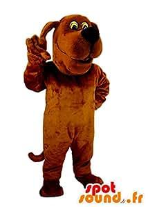 Mascotte SpotSound Amazon de chien marron, rigolo et original