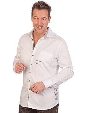 H1644 - Trachtenhemd mit langem Arm - weiß