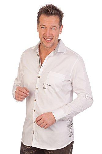orbis Textil H1644 - Trachtenhemd mit Langem Arm - Weiß, Größe 47/48 (XXXL)