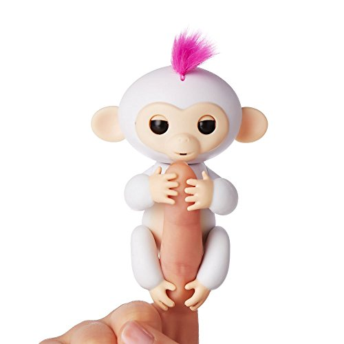 Wow Wee - Fingerlings  - bébé singe Ouistiti interactif, 12cm, blanc 0771171137023