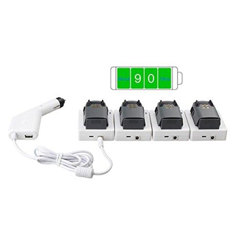 bescita Handyhalterung mit Ladefunktion, Batterie Auto Ladegerät Sitz USB Port Lade Halterung für DJI Spark Drone Quadcopter