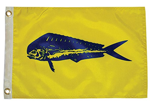 Taylor Made Produkte, Fisherman 's Flagge, Fisch Pennant, Nylon, 30,5x 45,7cm, 4218, 12