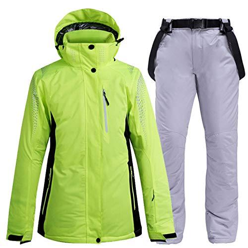 ZYJANO Skianzug Thicken Warm Ski Suit Men/Women Waterproof Windproof Skiing and Snowboarding Jacket Pants Set Unisex Snow Costumes Outdoor Wear,Color 14,S