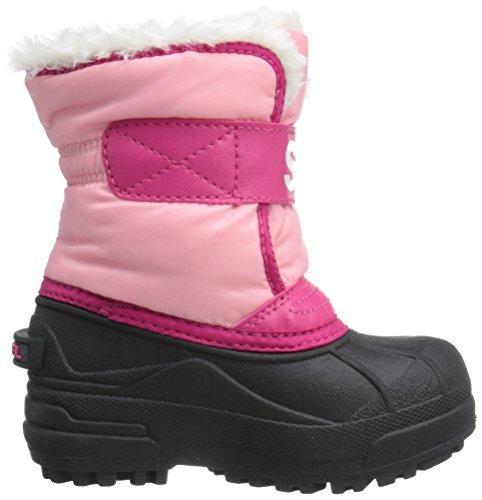 Sorel Childrens Snow Commander, Bottes Classiques mixte enfant Rouge (coral Pink, Bright Rose 644)