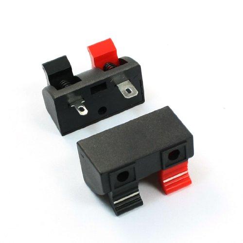 sourcing map DealMux 2 Stück 2 Position Feder-Clip Audio Lautsprecheranschlüsse 35 x 25mm de - Feder-clip-terminal