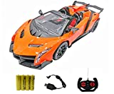 Popsugar Lamborghini Veneno 1:14 Door Opening Car with Rechargeable Battery and Charger RC
