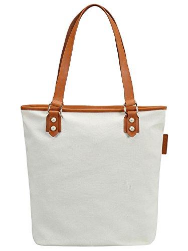 S.CHU Women's Print Canvas Leather Tote Handbag Ladies Shoulder Bag (Handtasche Satchel Zebra-print)