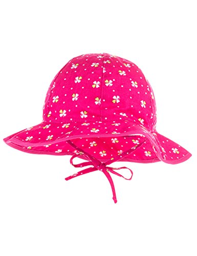 maximo Baby-Mädchen Mütze Flapper, Bindeband, Mehrfarbig (Pink-Kleeblatt 16), 49
