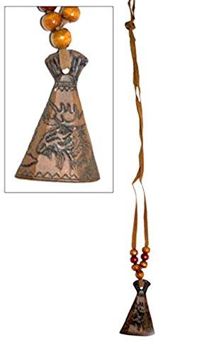 Indianer Maya Kostüm - Halloweenia - Indianerschmuck Kette Maya Indianerkostüm Federschmuck Tippi Elch Perlen, Mehrfarbig