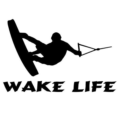 Wangcai Aufkleber Fürs Auto Auto Tuning Aufkleber 17,8 Cm * 11,5 Cm Boot Aufkleber Ski Boot Wakeboarden Angeln Innenborder Auto Aufkleber Vinyl Aufkleber Zubehör Schwarz 2 Stücke