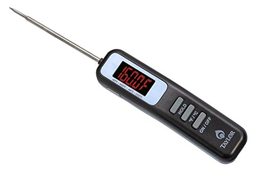 Taylor Grill LED Digital Thermometer mit zusammenklappbar Sonde