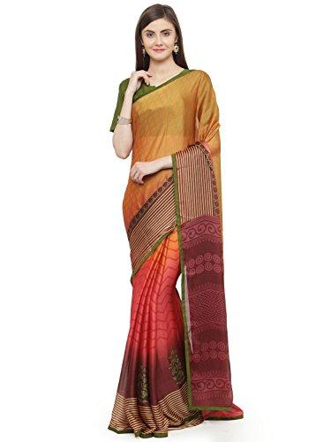 Shaily Retails Women's Multicolor Chiffon Printed Saree (SHREE10024SSSR0001T_Multicolor)