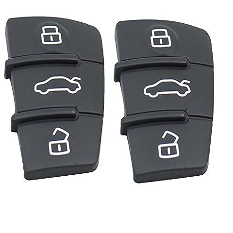 Lot de de rechange coque de clé sans télécommande de voiture 3boutons pour Audi Pad