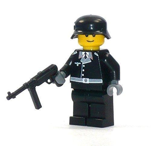 Custom Panzer Crew Soldat aus LEGO® Teilen Figur mit Combat Brick Waffe