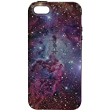 CUSTOM Black Speck CandyShell Case for Apple iPhone 5 / 5S - Pink Purple Blue Fox Fur Nebula
