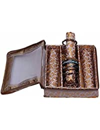 JaipurCrafts Golden Bangle Box Three Roll In Brocade (Golden)