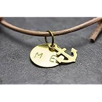 Anker Armband Gravur Freundschaftsarmband Buchstaben Nude personalisiert