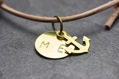 *Anker Armband Gravur Freundschaftsarmband Buchstaben Nude personalisiert*