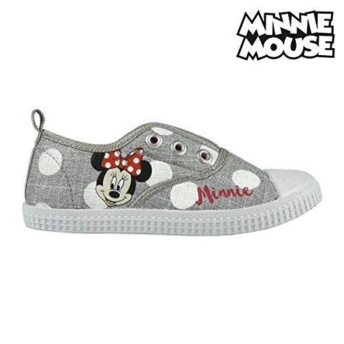 Disney Minnie Maus 2300002888 Mädchen Sneaker, Schuhe, Canvas, Grau ()