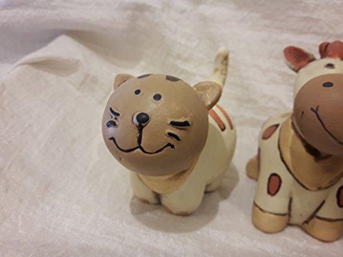 L'angolo barletta bomboniere animaletti gatto cane cavallo leone nascita battesimo porcellana