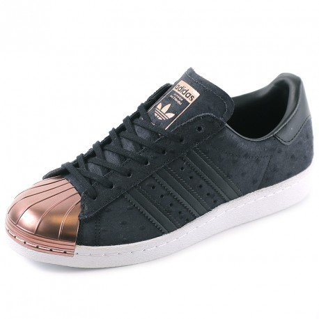 Adidas Sneaker Women SUPERSTAR 80S METAL TOE W S76712 Schwarz, Schuhgröße:37 1/3